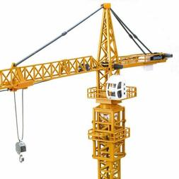 1:50 Diecast Tower Slewing Crane Construction Vehicle Car Mo