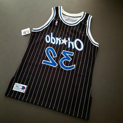 100% Authentic Shaquille O'Neal Vintage Champion Magic Jerse