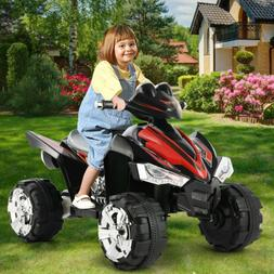 12V Kids Ride On ATV Car Quad Electric Toy 4 Wheeler With LE