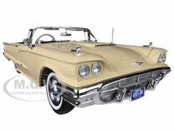 1960 FORD THUNDERBIRD OPEN CONVERTIBLE TAWNEY BEIGE 1/18 BY