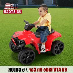 6V ATV Ride On Car Electric Battery Powered Toy 2 Speed w/Re