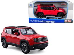 Jeep Renegade Red 1/24 Diecast Model Car by Maisto 31282