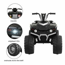 Black 12V Kids Ride On Car 4 wheels Electric ATV Quad Dune B