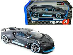 BUGATTI DIVO MATT GRAY WITH BLUE ACCENTS 1/18 DIECAST MODEL