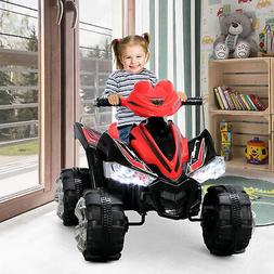Kids ATV Quad 4-Wheel Ride On W/ 12V Battery Electric LED Li