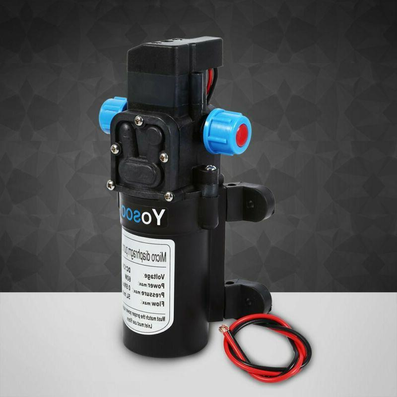 Keenso Dc 12V Water Pump With Hose Clamps Priming