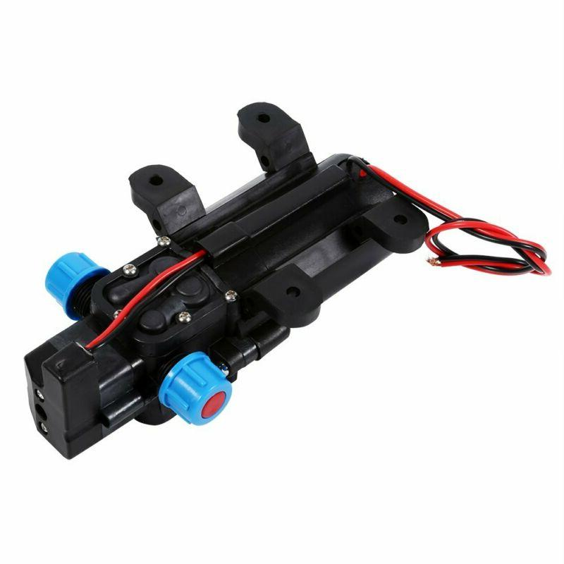 Keenso 12V Water Diaphragm Pump With Clamps Self Priming