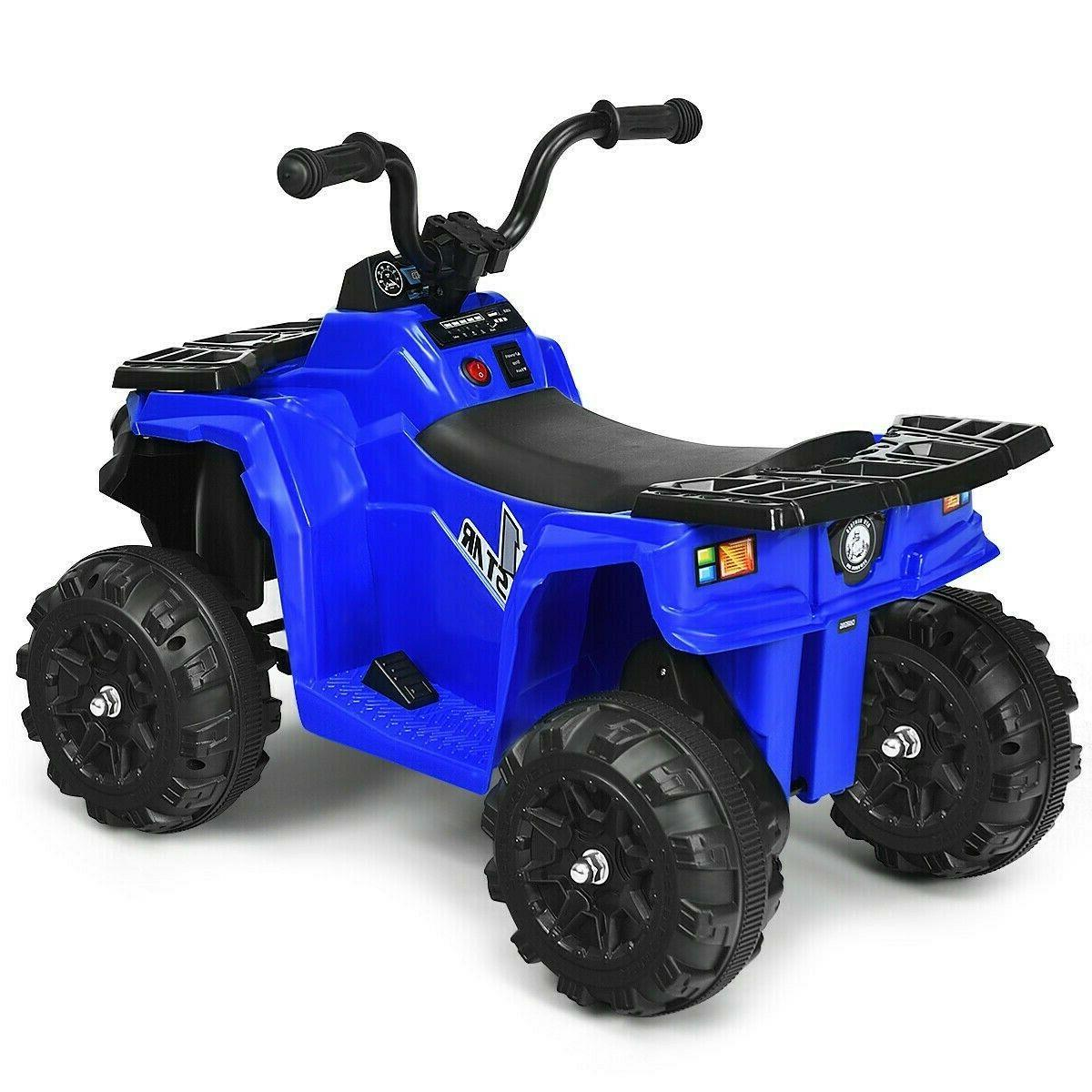 Kids Ride Atv 6V Powered 4 Wheeler Headlights