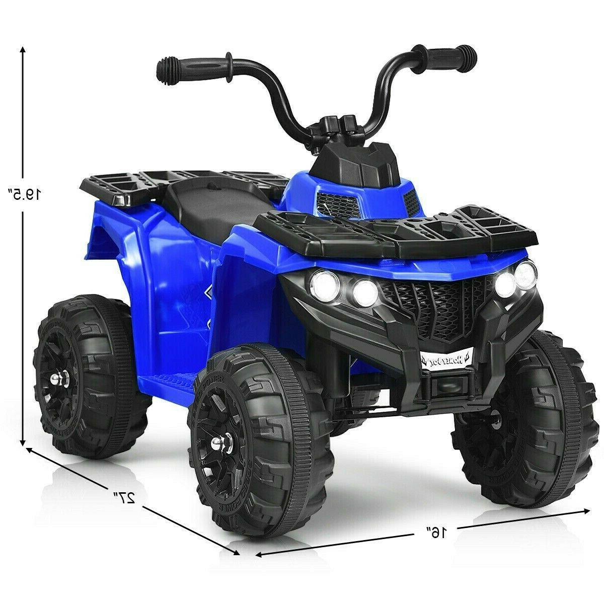 Kids Electric Ride Atv 6V Powered 4 Vehicle Headlights