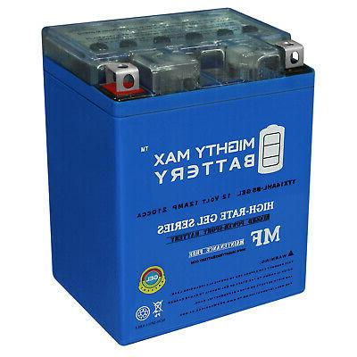 mighty max ytx14ahl gel battery replaces power