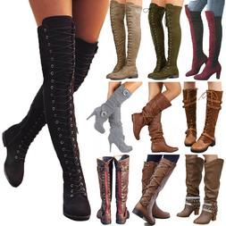 Women Boots Winter Calf Ladies Mid / Over The Knee High Stre